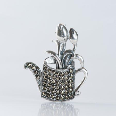 Brosa argint stropitoare marcasite
