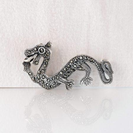 Brosa argint dragon argint