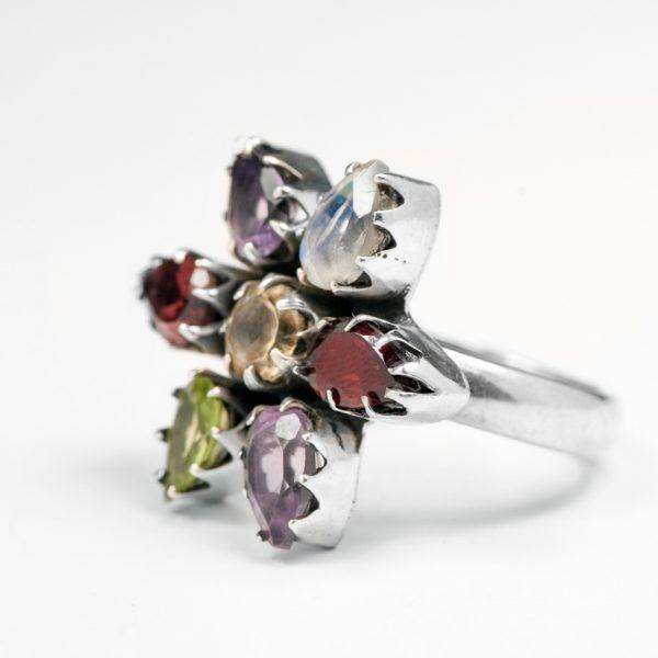 Inel argint cu pietre semipretioase