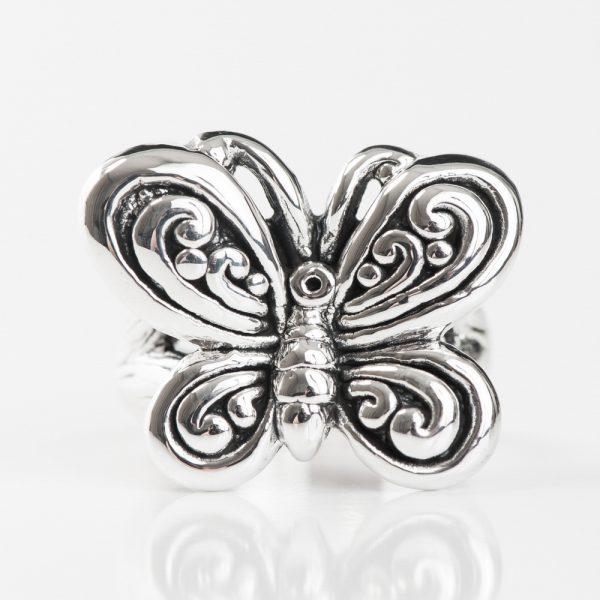 Inel argint fluture