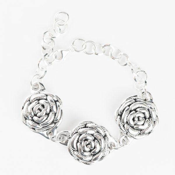 Bratara argint 3 trandafiri