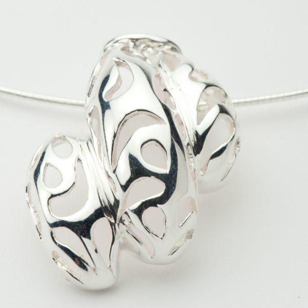Pandantiv argint frunza dantelata