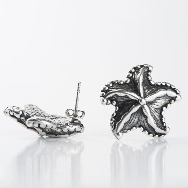 Cercei argint stea de mare