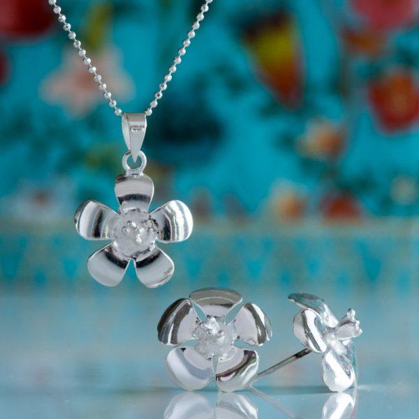 Pandantiv argint floare