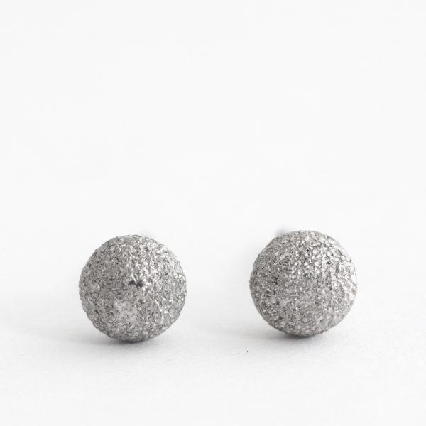 Cercei argint sfera rodiu