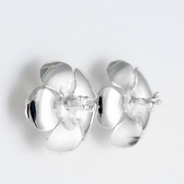 Cercei argint floare