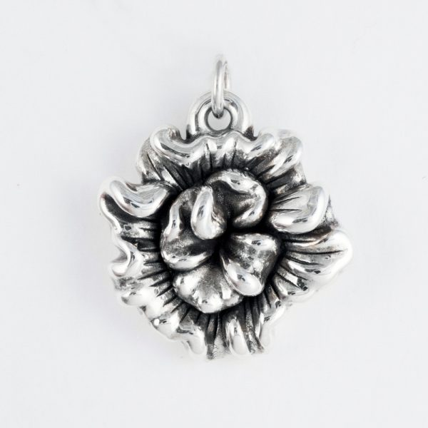 Pandantiv argint floare electroforming
