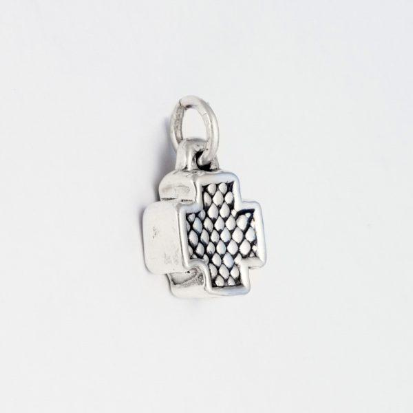 Pandantiv argint cruce electroforming