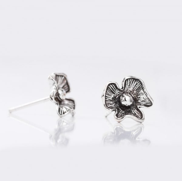 Cercei argint floare nufar