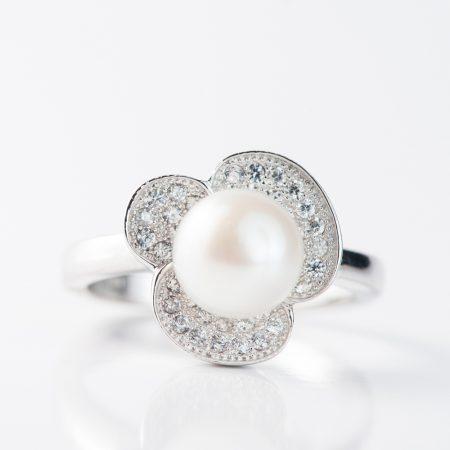 Inel argint perla de cultura