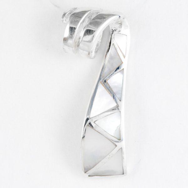 Pandantiv argint sidef panglica ondulata