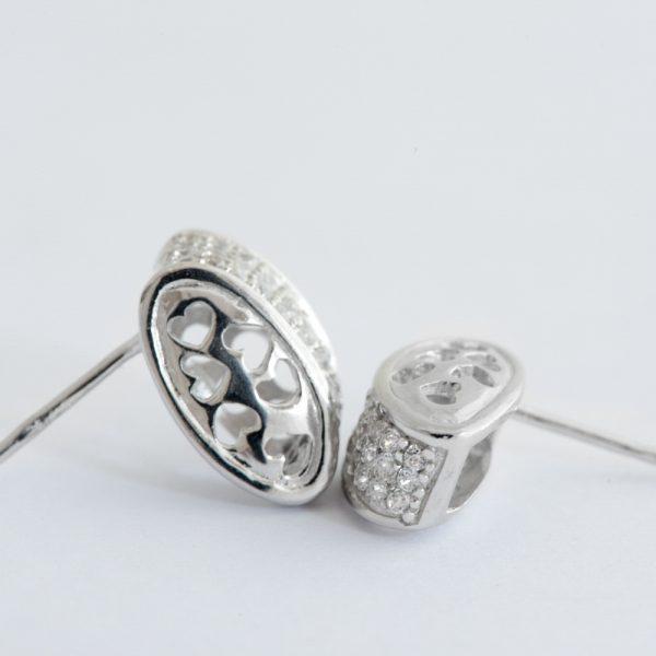 Set argint (Cercei si pandantiv) caseta zirconii cubice
