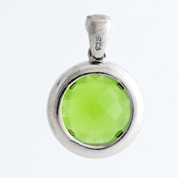 Pandantiv argint zirconiu cubic verde