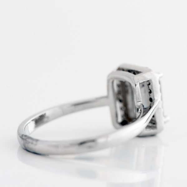 Inel argint topaz mistic