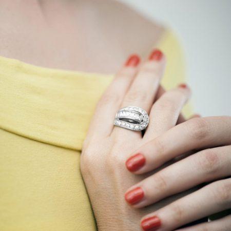 Inel argint catarama zirconii cubice albe
