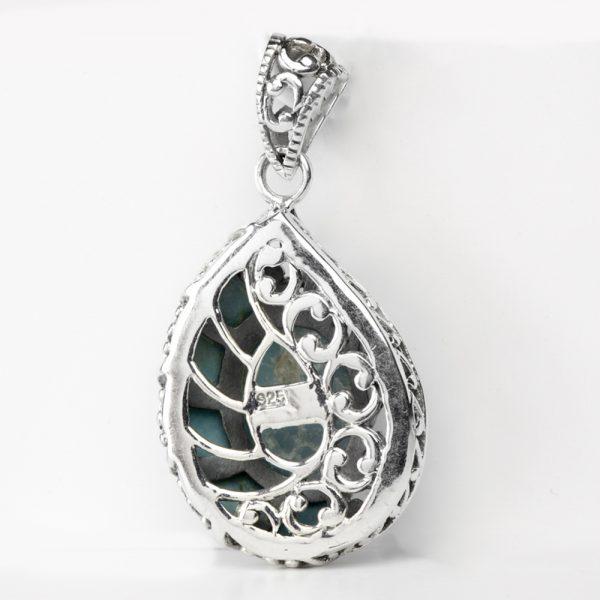 Pandantiv argint melc lapis lazuli