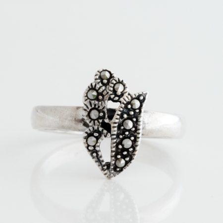 Inel argint marcasite