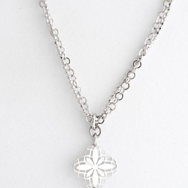 Colier argint trei flori