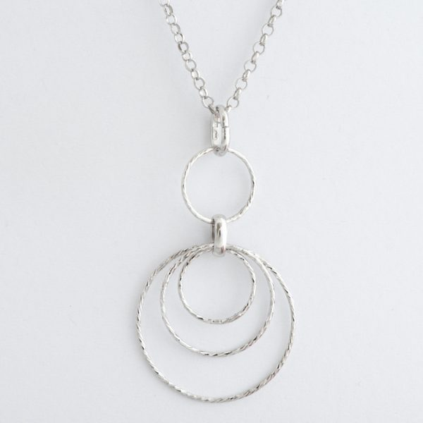 Colier argint cercuri