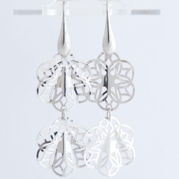 Cercei argint doua frunzulite