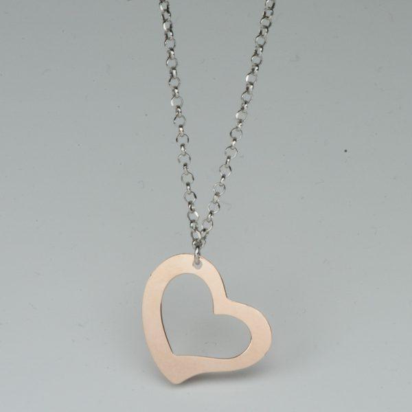 Colier argint inima