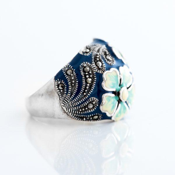 email albastru flori
