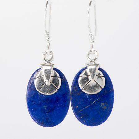 Cercei argint Art Deco lapis lazuli