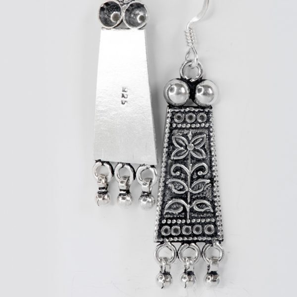 Cercei argint tribal