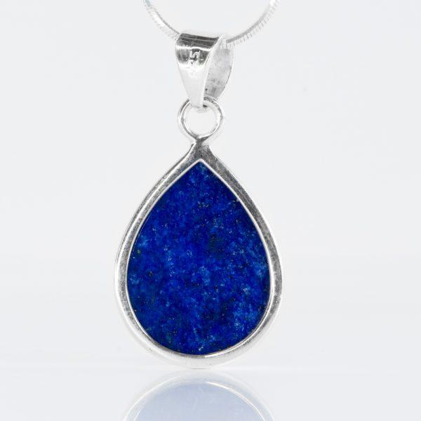 Pandantiv argint picatura lapis lazuli