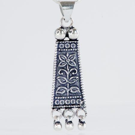 Pandantiv argint tribal