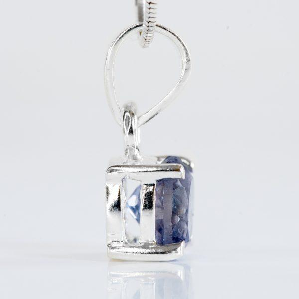 Pandantiv argint rotund iolit