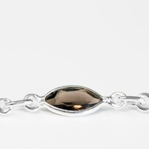 Bratara argint pietre semipretioase elipsa