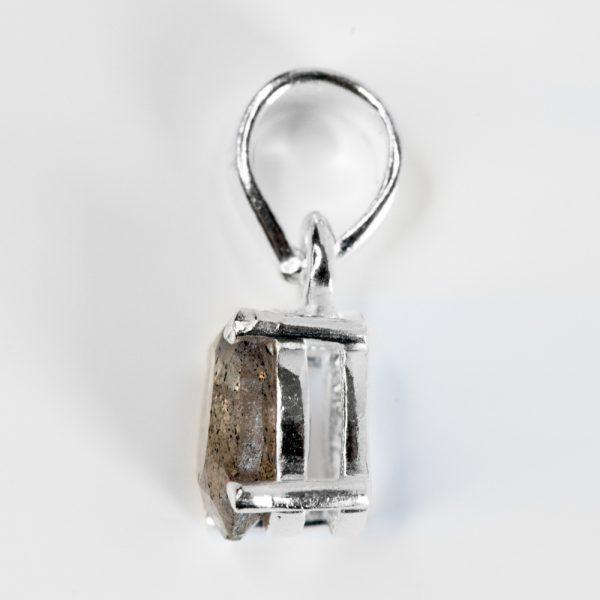 Cercei argint oval model peridot