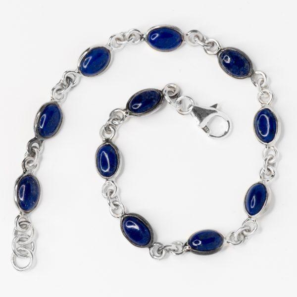 Bratara argint lapis lazuli