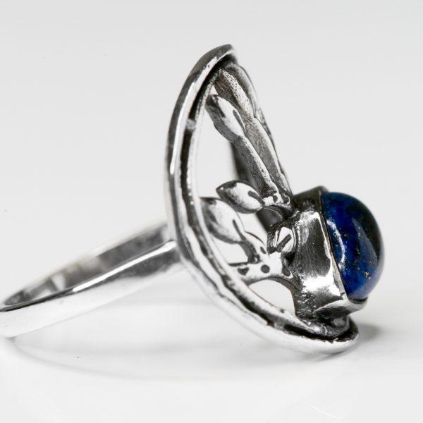 Inel argint arborele vietii lapis lazuli