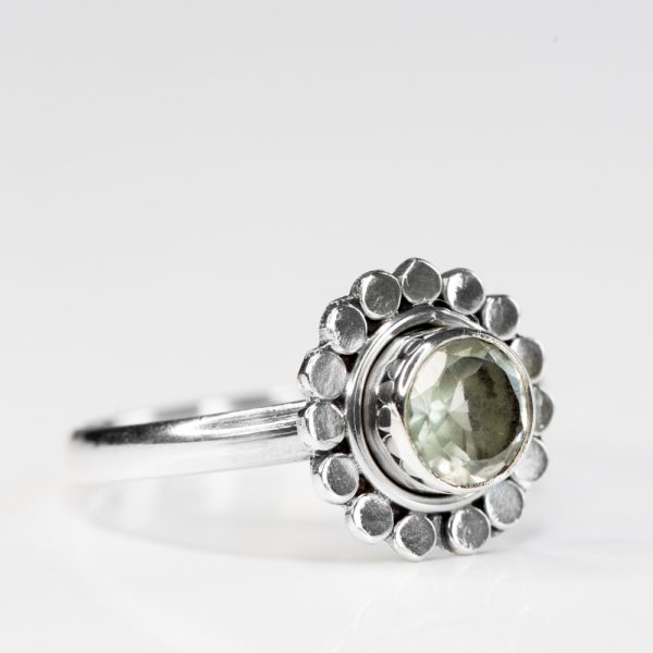 Inel argint margareta ametist verde