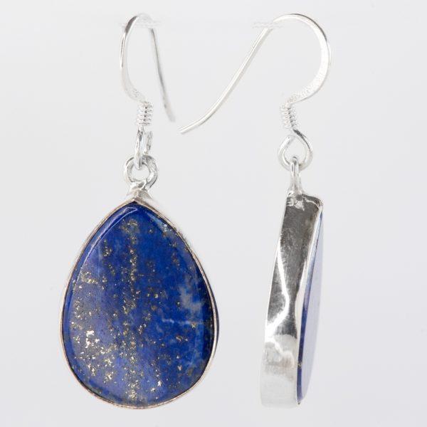 Cercei argint picatura lapis lazuli