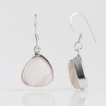Cercei argint cuart roz