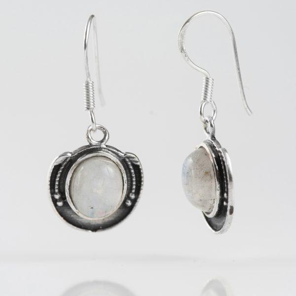Cercei argint piatra lunii